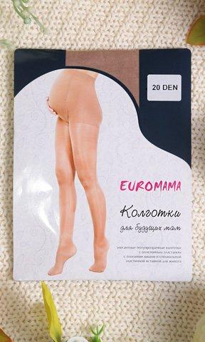 Евромама. Колготки для беременных гладкие, 20 Den