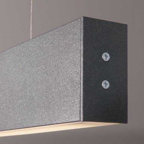 Линейный светодиодный подвесной двусторонний светильник 128см 50Вт 6500К черная шагрень LS-01-2-128-6500-MSh