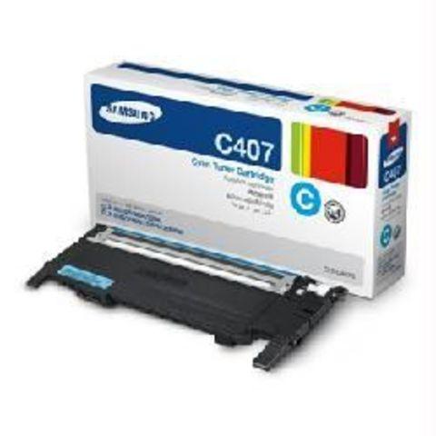 Картридж голубой Samsung CLT-C407S для Samsung CLP-320, CLP-320n, CLP-325, CLX-3185, CLX-3185N, CLX-3185FN (Ресурс 1000 стр.)
