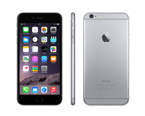 iPhone 6 Plus + 16 гб space gray черный