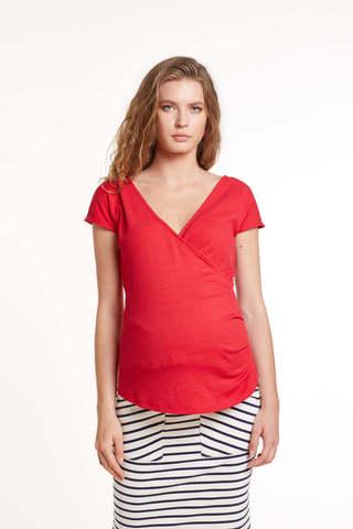 Блузка для беременных и кормящх 11440 красный