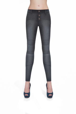 Легинсы с эффектом джинс черные