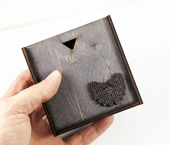 BSS126 Браслет из шнура ручной работы с серебряной бусиной «Велес» фото 17
