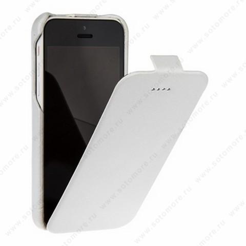 Чехол-флип Borofone для iPhone 5C - Borofone General flip Leather Case White