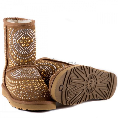 Женские угги UGG Jimmy Choo Diamonds Chestnut
