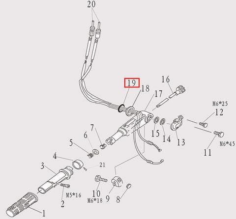 Шайба румпеля для лодочного мотора F9.8 Sea-PRO (7-19)