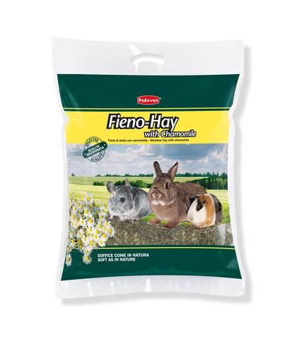 Padovan Сено FIENO-HAY луговые травы с ромашкой для грызунов и кроликов 700 г