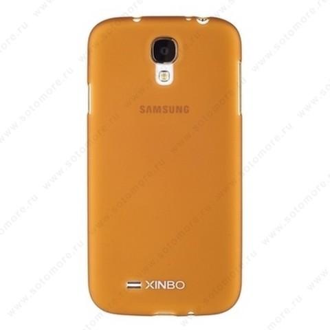 Накладка XINBO пластиковая для Samsung Galaxy S4 i9500/ i9505 коричневая