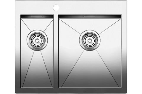 Кухонная мойка Blanco ZEROX 340/180-IF/А, клапан-автомат, нержавеющая сталь