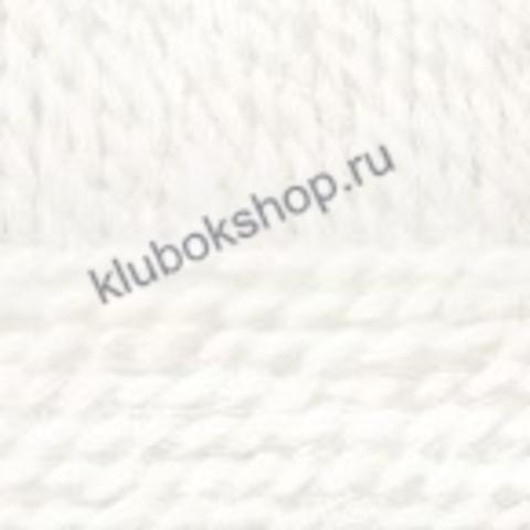 Пряжа Осенняя (Пехорка) цвет 01 Белый