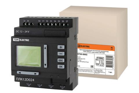 Программируемый логический контроллер ПЛК12D024 с дисплеем 24В TDM