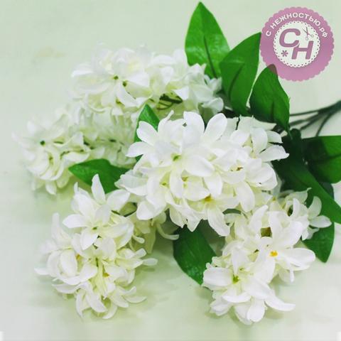 Искусственные цветы Гиацинт пышный, букет 5 веток, 40 см.