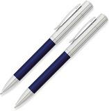 Набор Franklin Covey Greenwich Blue/Chrome шарик и карандаш 0.9мм в футляре (FC0021-3)
