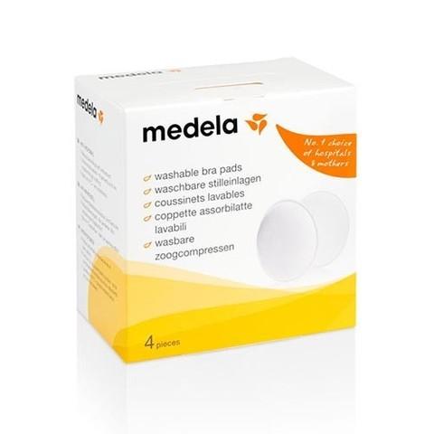 MEDELA Прокладки многоразовые для бюстгалтера с  антибактериальной защитой, WASCHBARE STILLEIN