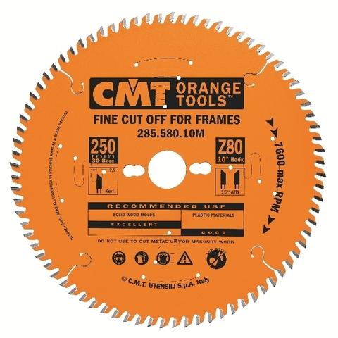 Диск пильный CMT 250x30x3,0/2,5 10º 20º ATB Z=80