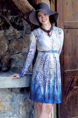 Платье для беременных 05535 синий