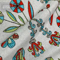 Светло-серое джерси с абстрактными цветами