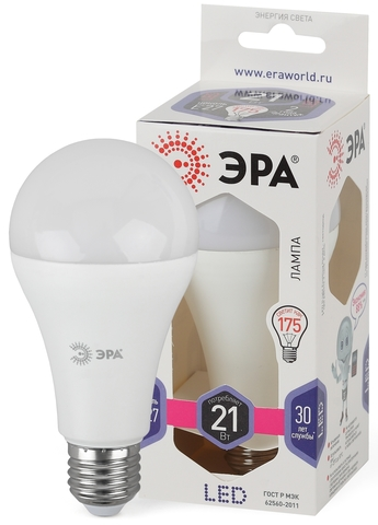 Светодиодная лампа ЭРА LED 21вт (белый свет)