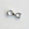 Держатель кулона маленький петелька (цвет - платина) 12х4 мм