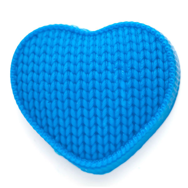 Форма для мыла Сердце вязаное