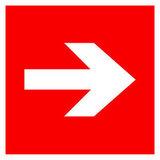 F01-01 знак пожарной безопасности «Направляющая стрелка»