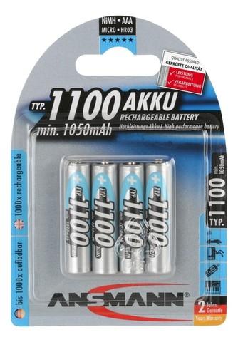 Аккумуляторы Ni-MH, AAА (1.2V, 1100mAh), 4шт.