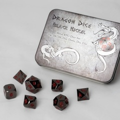 Blackfire Dice - Metal Dice Set - Black