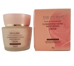 [3W CLINIC] УВЛАЖНЕНИЕ Крем д/лица Flower Effect Extra Moisture Cream, 50 гр