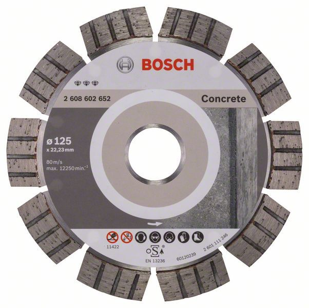 Алмазный диск Best for Concrete 125-22,23 Bosch 2608602652