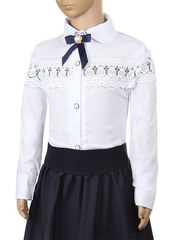 B406 блузка детская, белая