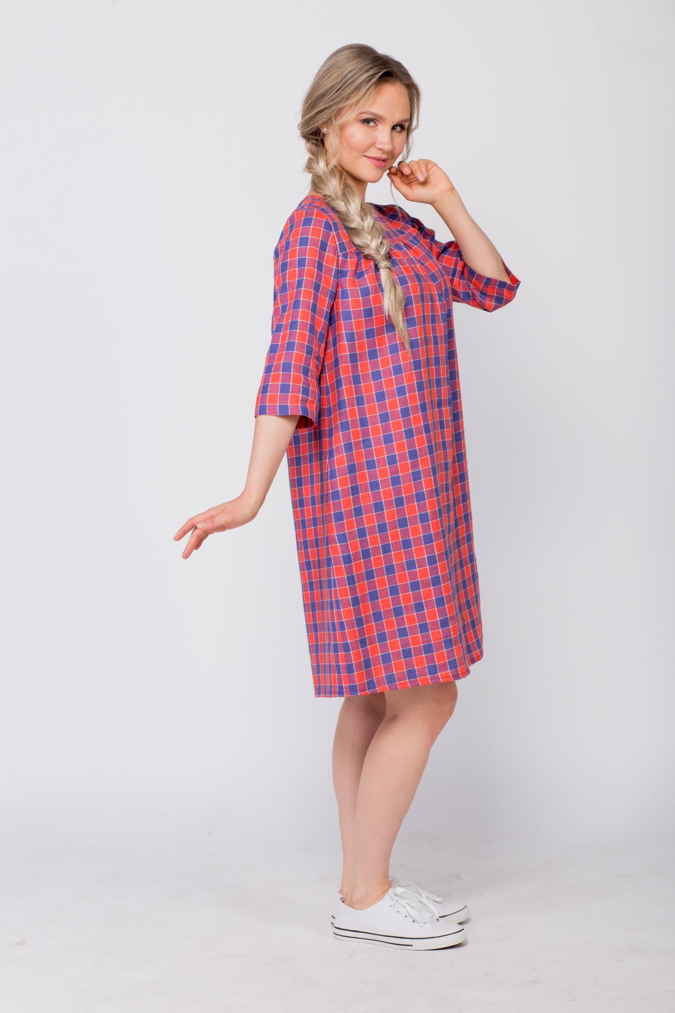 Платье льняное Хобби вид сбоку