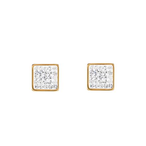 Серьги Coeur de Lion 0317/21-1800 цвет белый, золотой