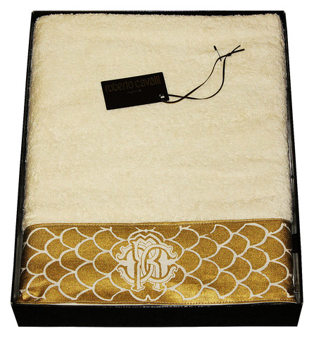 Полотенце 100х150 Roberto Cavalli Gold слоновой кости