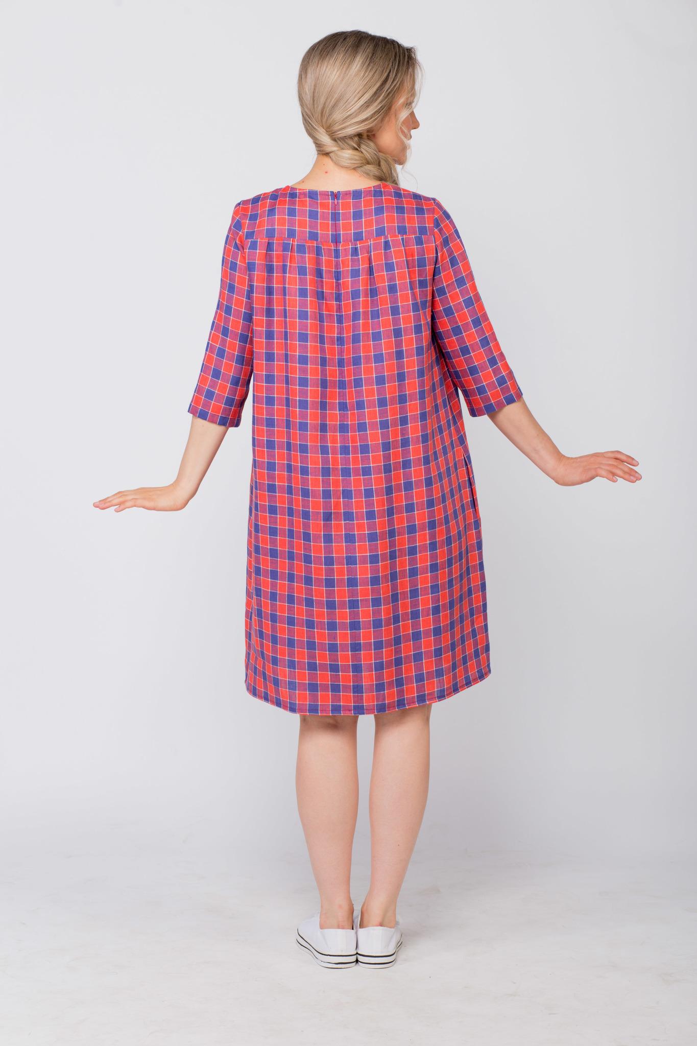 Платье льняное Хобби вид сзади