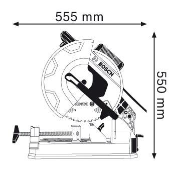 Отрезная пила по металлу Bosch GCD 12 JL Professional 0601B28000