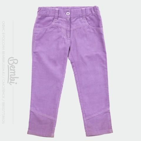 ШР318 брюки для девочки микровельвет