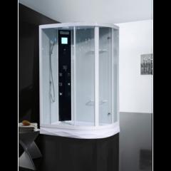 Душевая кабина Orans OLS-SR86155A/AR 90x130см. профиль белый, стекло прозрачное
