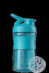 BlenderBottle SportMixer, Универсальная Спортивная бутылка-шейкер с венчиком.  Teal-морской-голубой 591 мл