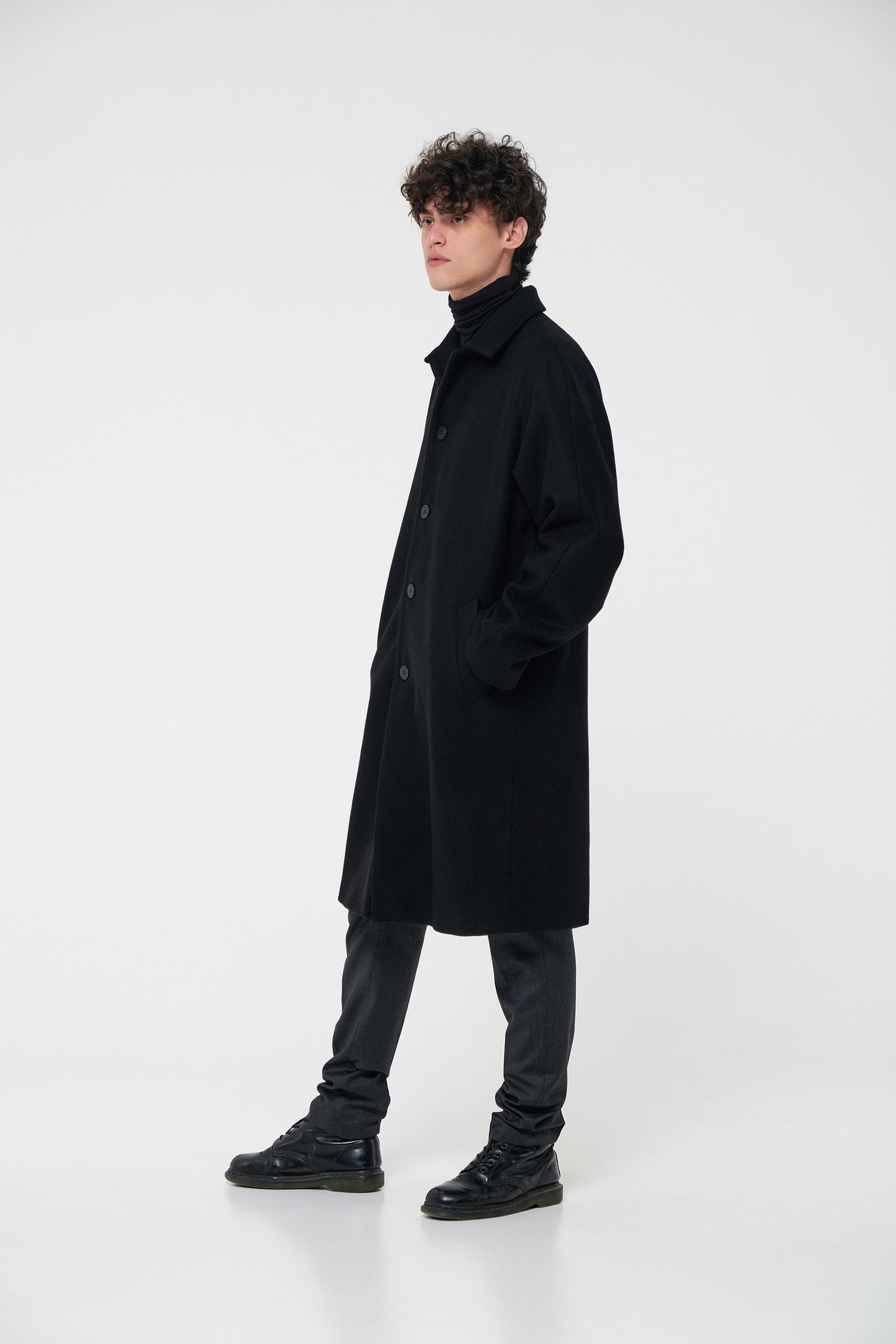Пальто комбинированной конструкции