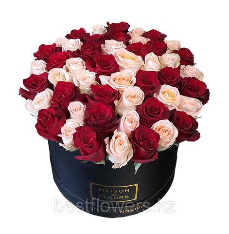 Коробка Maison Des Fleurs бело-красная