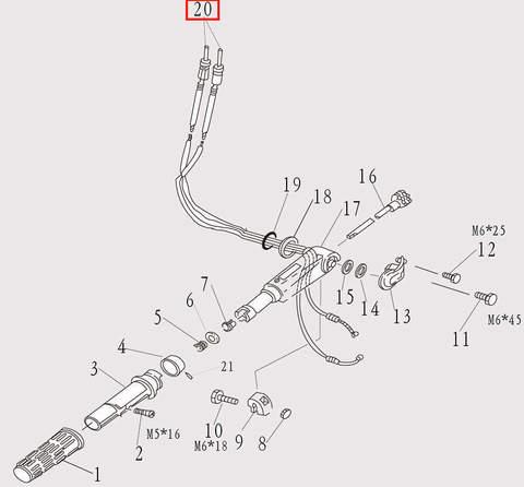Трос газа для лодочного мотора F9.8 Sea-PRO (7-20)