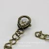 Основа для браслета с замком 20 см (цвет - античная бронза)