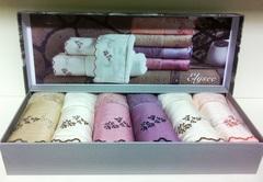 Набор полотенец  ELISSY - ЭЛИСИ в размере 30*50 / Maison Dor (Турция).
