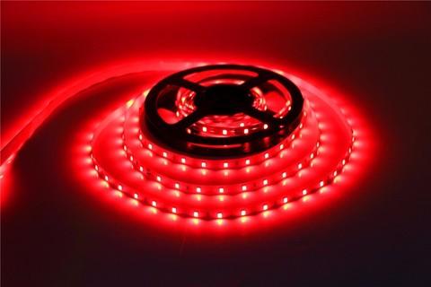 LED лента красная 5 метров 3528 лед