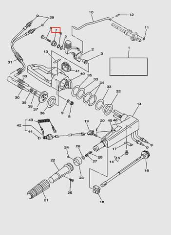 Втулка ручки п.п. для лодочного мотора T40 Sea-PRO (14-7)