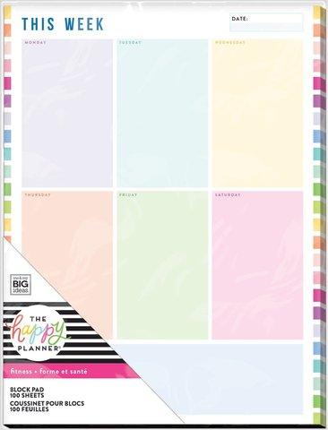 Блок листов для Happy Planner®  без перфорации Block Paper Pad- Fitness