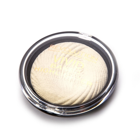 Хайлайтер  Makeup Revolution London VIVID BAKED Highlighter в оттенке Golden Lights .