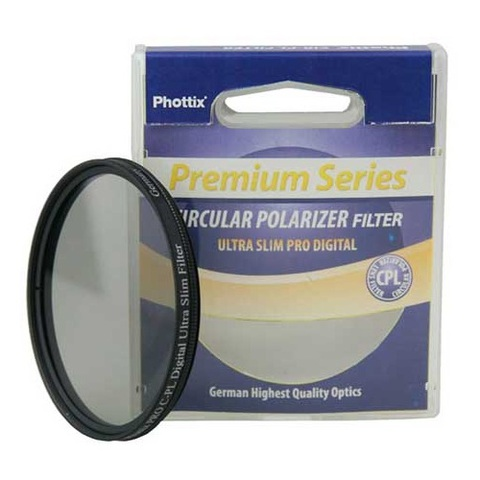 Поляризационный фильтр Phottix Pro C-PL Digital Ultra Slim Filter на 58mm