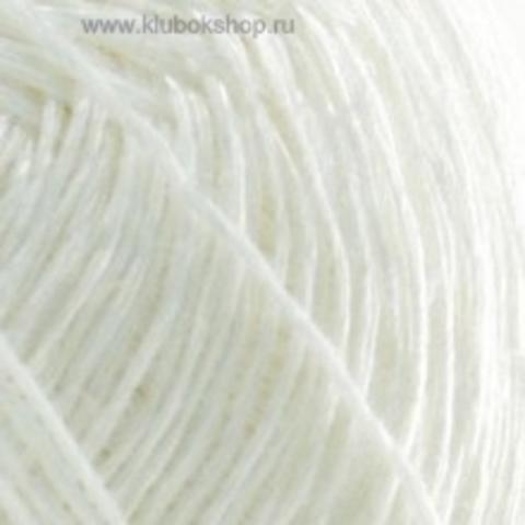 Пряжа Блестящий лен (Пехорка) Белый 01