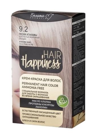 Белита-М Hair Happiness Крем краска для волос №9.02 Пески Атакамы Золотистый жемчужный блондин